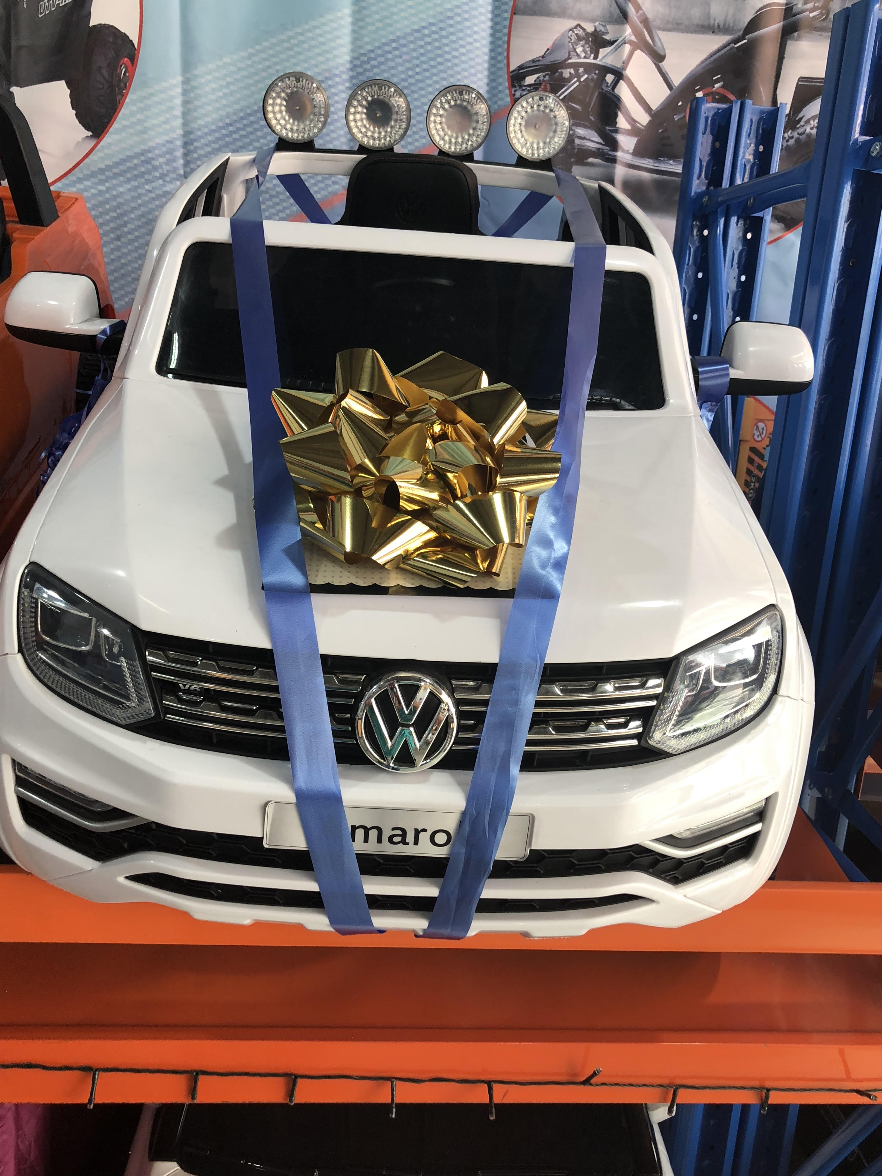 """BIG GIANT CAR BOW 16/"""" PERSONALISED METALLIC RED Large Birthday Christmas bow"""